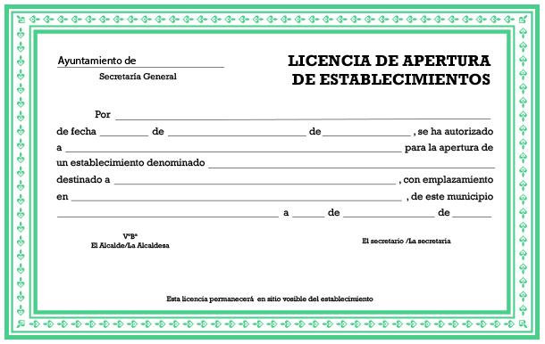 precio de licencia de apertura